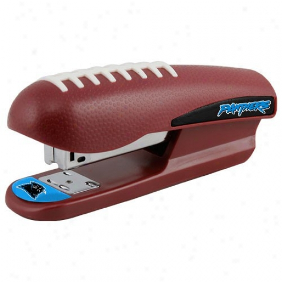 Carolina Panthers Brown Pro-grip Footbalk Stapler
