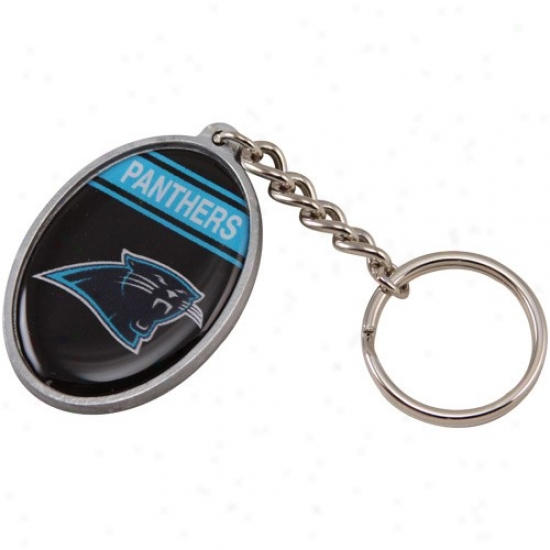 Carolina Panthers Domed Oval Keychain