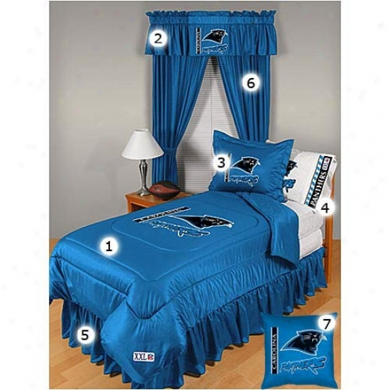 Carolina Panthers Full Size Locker Room Bedroom Set