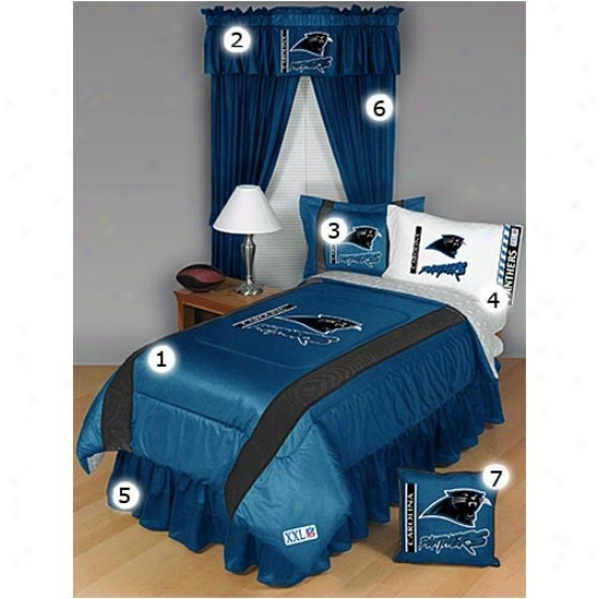 Carolina Panthers Full Size Sideline Bedroom Set