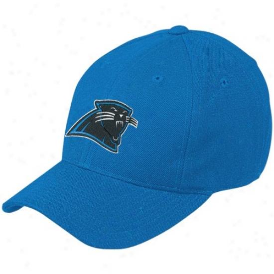 Carolina Panthers Gear: Reebok Carolina Panthers Blue Basic Logo Wool Blend Adjustable Hat