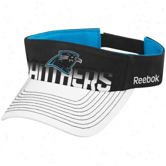 Carolina Panthers Gear: Reebok Carolina Panthrs Black-white Players Visor