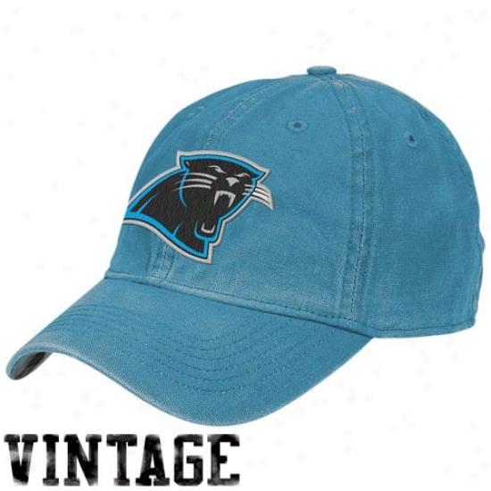Carolina Panthers Gear: Reebok Carolina Panthers Panther Blue Arm Flex Fit Vintage Hat