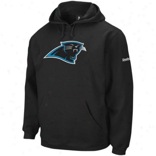Craolina Pahthers Hoodies : Reebok Carolina Panthers Black Playbook Hoodies