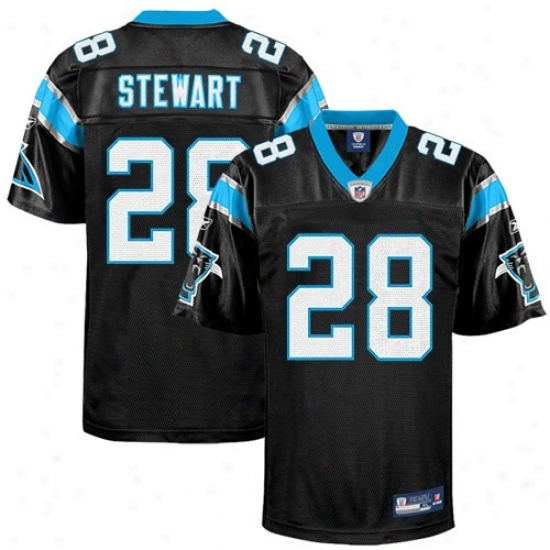 Carolina Panthers Jersey : Reebok Nfl Equipment Carolina Panthers #28 People of the United States Stewart Black Replica Jersey