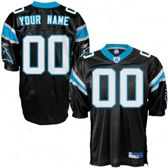Carolina Panthers Jerseys : Reebok Nfl Equipment Carolina Panthers Black Authentic Customized Jerseys