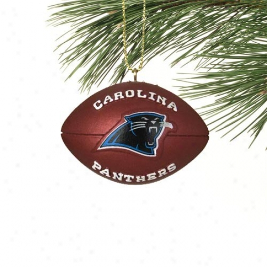 Carolina Panthers Mini Resin Football Ornament