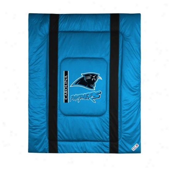 Carolina Panthers Queen/full Size Sideline Comforter