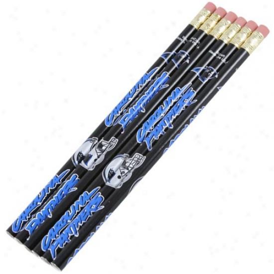 Carolina Panthers Six Pack Pencil Set