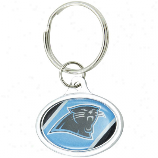 Carolina Panthers Small Oval Keychain