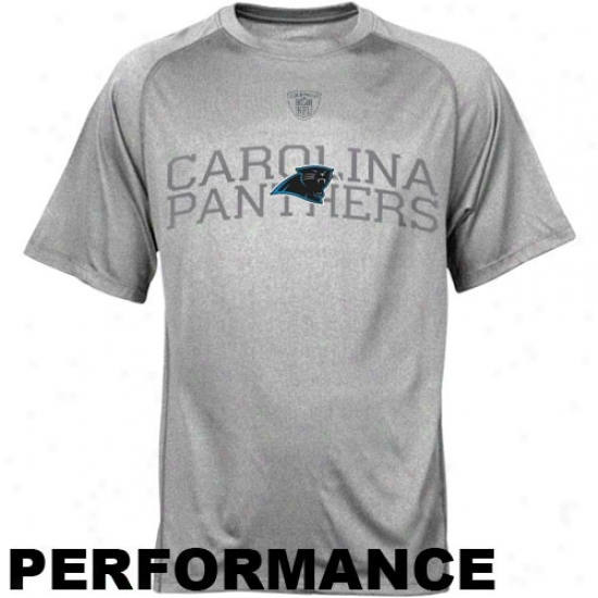 Carolina Panthers T Shirt : Reebok Nf Equipment Carolina Panthers Athletic Gray Foundation Spedwlck Performance T Shirt