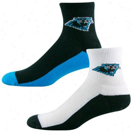 Carolina Panthers Tri-color Two-pack Quarter Socks
