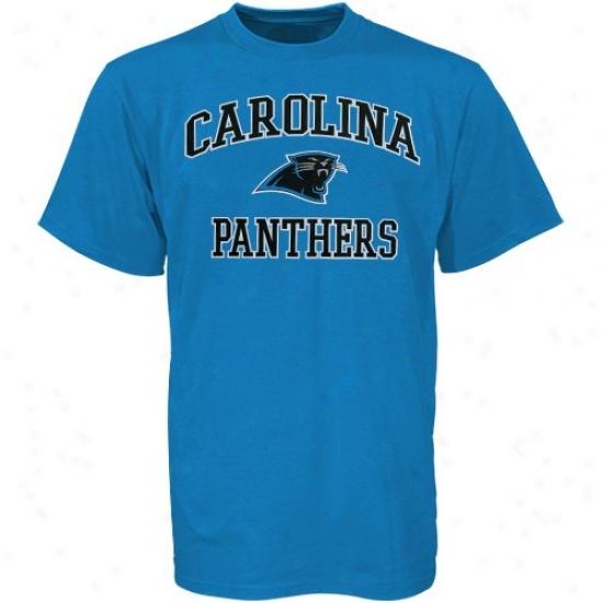 Carolina Panthers Tshirts : Carolina Panthers Light Blue Heart And Soul Tshirts