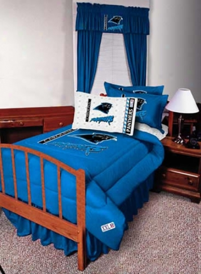 Carolina Panthers Twin Size Bed Skirt