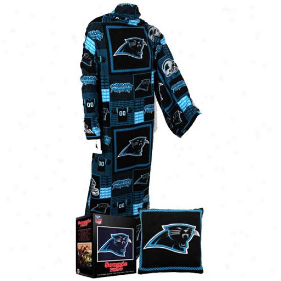 Carolina Panthers Unisex Black Snuggie Pillow
