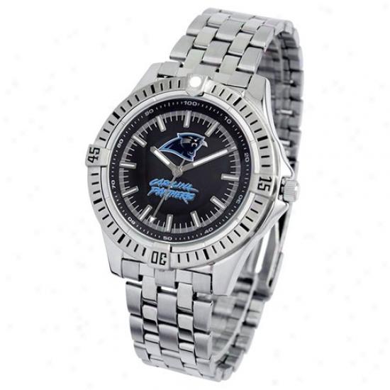 Carolina Panthers Watches : Carolina Panthers Men's Stainless Armor Analog Nfl Bracelet Watches