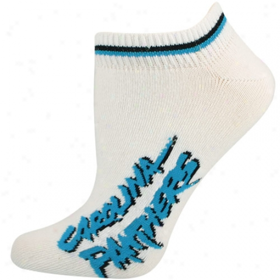 Carolina Panthers White Ldies (529) 9-11 Ankle Socks