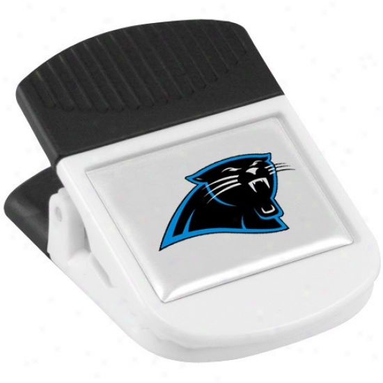 Carolina Panthers White Magnetic Chip Clip