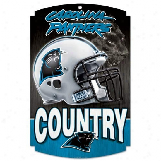 Carolina Panthers Wood Sign