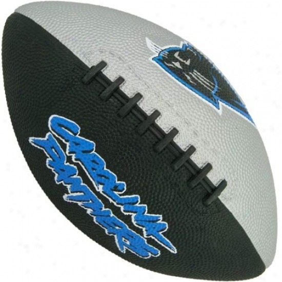 Carolina Panthers Youth Black-gray Hail Mary Rubber Footbail