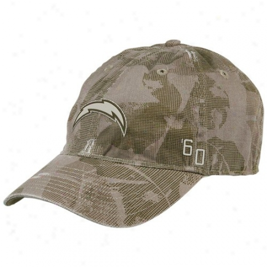 Chargers Hats : Reebok Chargers Natural Camo Cocnrete Flex Fit Slouch Hats