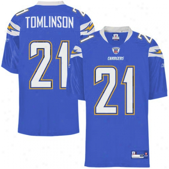Chargerz Jersey : Reebok Nfl Equipment Chargers #21 Ladainian Tomlinson Electric Blue Perform reciprocally Authentic Football Jersey