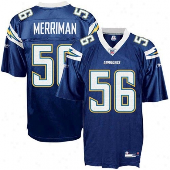 Chargers Jersey : Reebok Nfl Equipment Chargers #56 Shawne Merriman Youth Navy Blue Replica Football Jersey