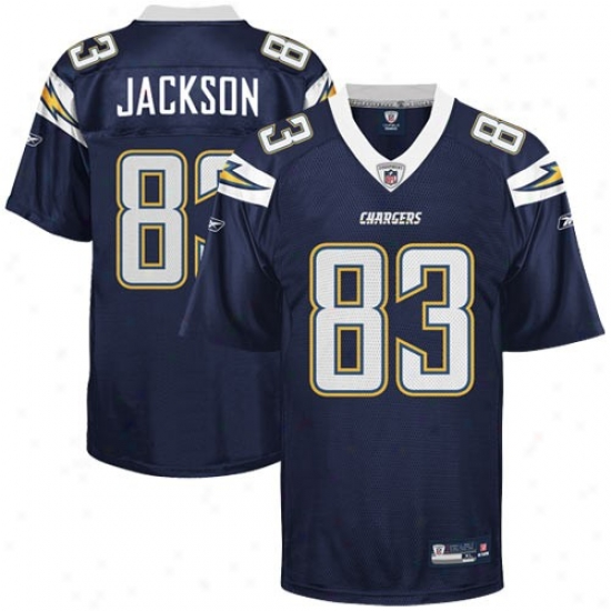 Chargers Jerseys : Reebok Nfl Equipment Chargers #83 Vincent Jackson Navy Blue Replica Football Jerseys