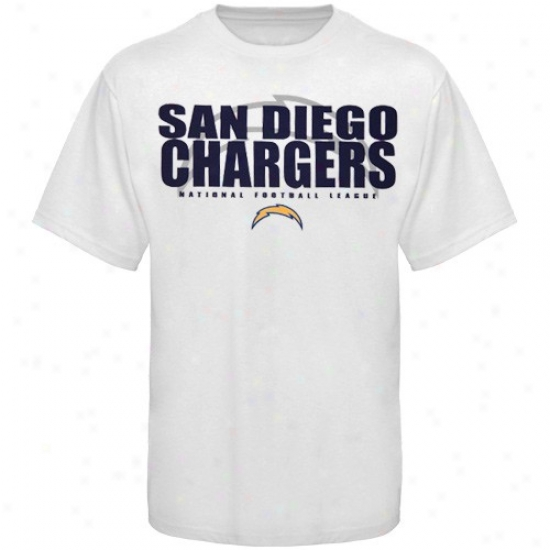 Chargers Shirt : Chargers White Field Of Play Shirt