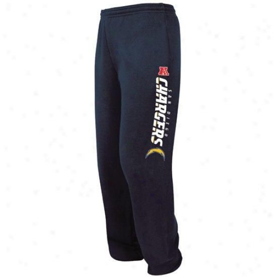 Chargers Sweat Shirts : Chargers Navy Blue Critical Victory Iv Sweatpants