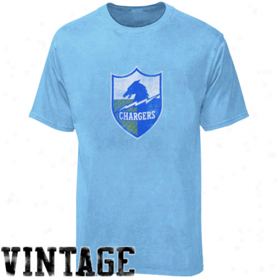 Chargers T-shirt : Reebok Chargers Youth Light Blue Retro Loo T-shirt