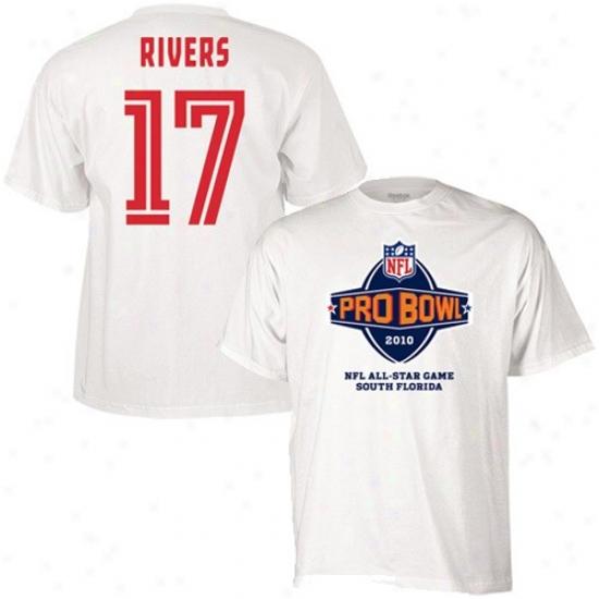 Chargers Tshirts : Reebok 2010 Pro Bowl White #17 Phillip Rivers Player Tshirts