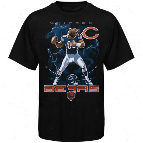 Chicago Beat Apparel: Chicago Bear Black The Quarterback T-shirt