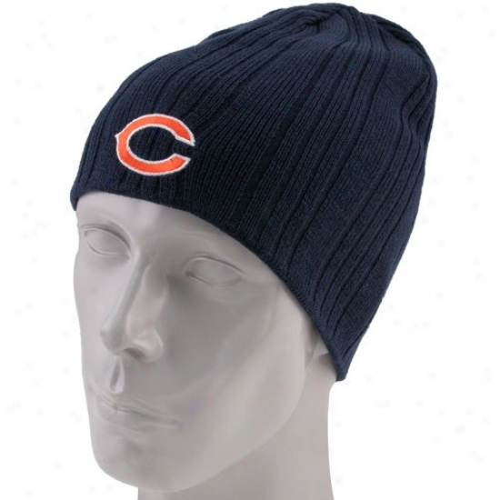 Chicago Bear Caps : Reebok Chicago Bear Ships Blue City ~ Knit Reversible Beanie