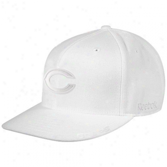 Chicago Bear Caps : Reebok Chicago Bear White Tonal Fashion Fitted Caps