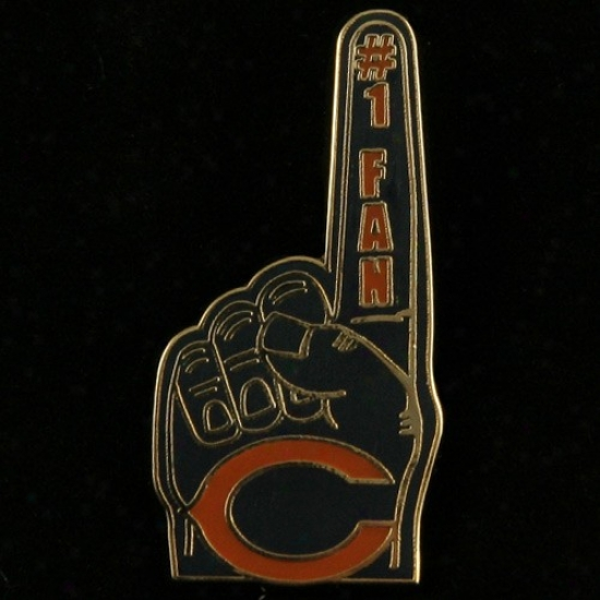 Chicago Suffer Hat : Chicago Bear #1 Fan Pin