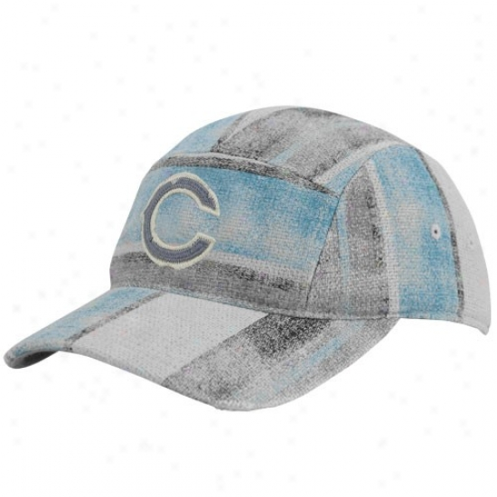 Chicago Bear Hat : Reebok Chicago Bear Multi-color Distressed Patchwork Adjustable Fashion Slouch Hat