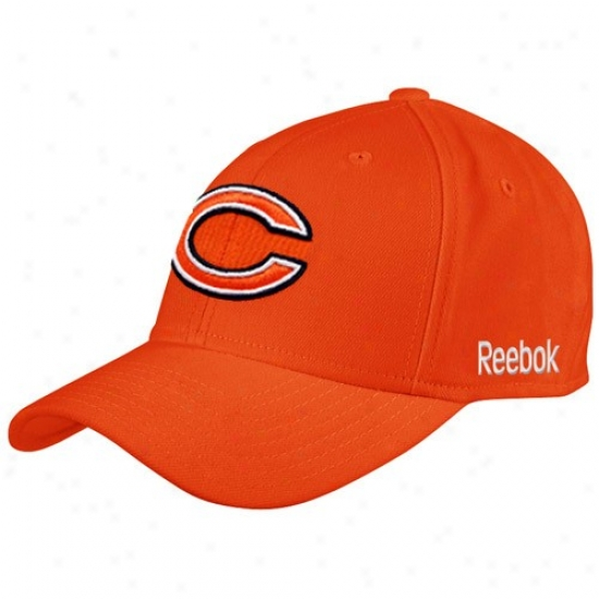Chicago Bear Hat : Reebok Chicago Bear Orange Coaches Sideline Fled Hat