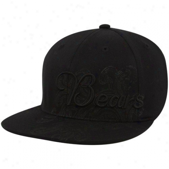 Chicagp Bear Hafs : Reebok Chicago Bear Black Fashion Flex Become Hats