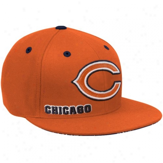 Chicago Bear Hats : Reebok Chicago Bear Orante Fashion Fitted Hats
