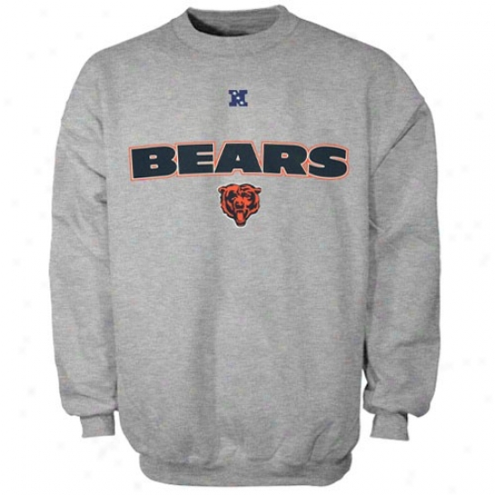 Chicago Bear Hoodys : Chicago Bear Ash Critical Victory Iii Crew Hoodys