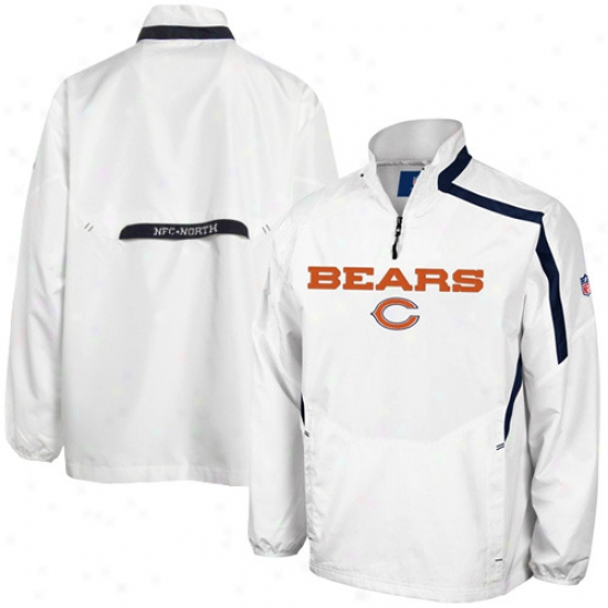 Chicago Bear Jackets : Reebok Chicago Bear White Throttle Hot Jackets