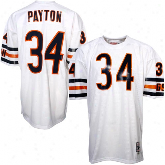 Chicago Bear Jersey : Mitchell & Ness Chicago Bear #34 Walter Patyon White Authentic Throwback Jersey