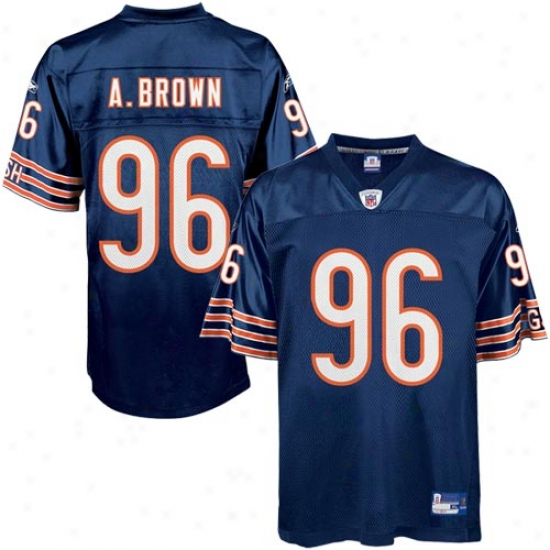 Chicago Press Jersey : Reebok Nfl Equipment Chicago Bear #96 Alex Brown Ships Replica Football Jersey