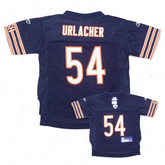 Chicago Bear Jerseys : Reebok Nfl Equipment Chicago Bear #54 Brian Urlacher Navy Toddler Replica Football Jerseys