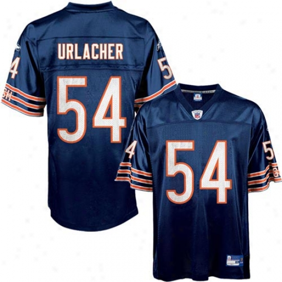 Chicago Bear Jerseys : Reebok Nfl Equipment Chicago Bear #54 Brian Urlafher Navy Youth Replica Football Jerseys