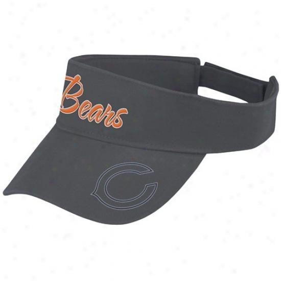 Chicago Bear Merchandise: Reebok Chicago Bear Ladies Navy Blue Fashion Adjustable Visor