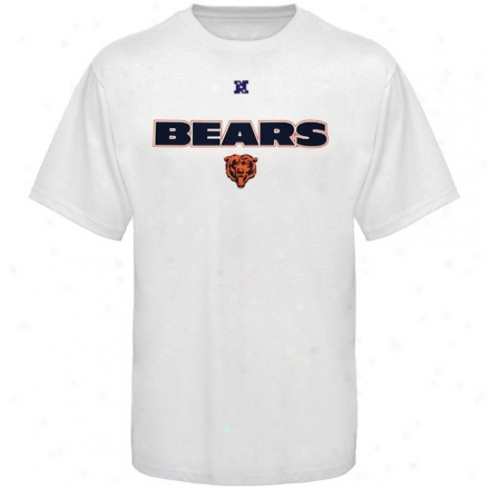 Chicago Bear Shirts : Chicago Bear White Cfitical Victory Shirts