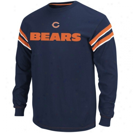Chicgo Bear T-shirt : Chicago Bear Navyy Blue End Of The Line Ii T-shirt