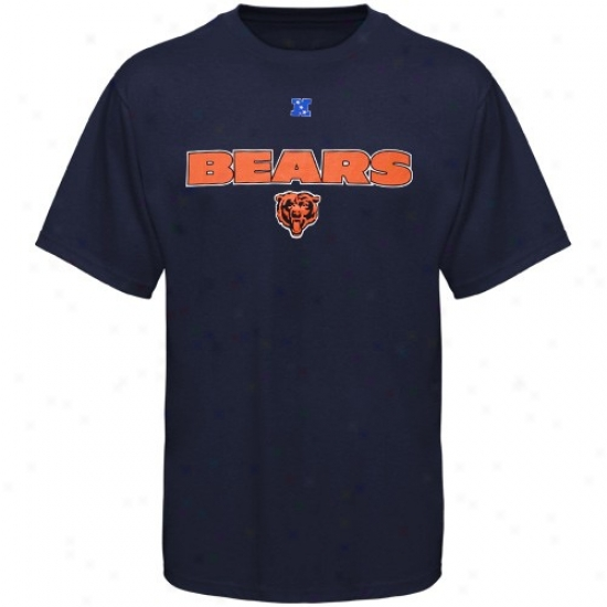 Chicago Bear Tshirts : Chicago Bear Navy Blue Critical Conquest Iii Tshirts